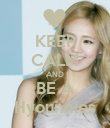 KEEP CALM AND BE A Hyounnies - Personalised Poster large