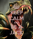 KEEP CALM AND BE A JACK - Personalised Poster large
