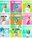 KEEP CALM AND BE A K-POP FAN - Personalised Poster large