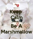 Keep  Calm And  Be A Marshmallow - Personalised Poster large