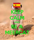 KEEP CALM AND BE A MEERCAT - Personalised Poster large