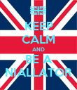KEEP CALM AND BE A NIALLATOR - Personalised Poster large