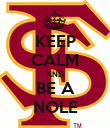 KEEP CALM AND BE A NOLE - Personalised Poster large