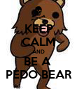 KEEP CALM AND BE A  PEDO BEAR - Personalised Poster large