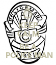 KEEP CALM AND BE A  POLICE MAN - Personalised Poster large