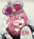 KEEP CALM AND BE A QUEEN - Personalised Poster large