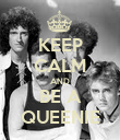 KEEP CALM AND BE A QUEENIE - Personalised Poster large