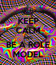 KEEP CALM AND BE A ROLE MODEL - Personalised Poster large