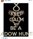 KEEP CALM AND BE A  SHADOW HUNTER! - Personalised Poster large