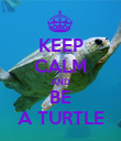 KEEP CALM AND BE A TURTLE - Personalised Poster large