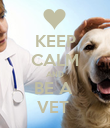 KEEP CALM AND BE A  VET  - Personalised Poster large