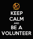 KEEP CALM AND BE A VOLUNTEER - Personalised Poster large