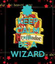 KEEP CALM AND BE A WIZARD - Personalised Poster large