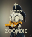 KEEP CALM AND BE A ZOOMBIE - Personalised Poster large