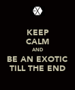 KEEP CALM AND BE AN EXOTIC TILL THE END - Personalised Poster large