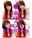 KEEP CALM AND BE AN FELLYCIOUS - Personalised Poster large