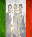 KEEP CALM AND Be An IlVolover - Personalised Poster large