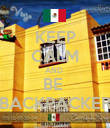 KEEP CALM AND  BE  BACKPACKER - Personalised Poster large