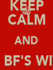 KEEP CALM AND BE BF'S WITH BLYTHE - Personalised Poster large