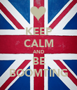 KEEP CALM AND BE BOOMTING - Personalised Poster large