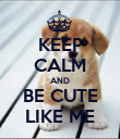 KEEP CALM AND BE CUTE LIKE ME - Personalised Poster large