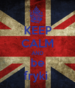 KEEP CALM AND be fryki  - Personalised Poster large