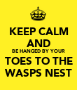 KEEP CALM AND BE HANGED BY YOUR TOES TO THE WASPS NEST - Personalised Poster large
