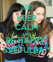 KEEP CALM AND BE HAPPY, SVETULEA * - Personalised Poster large