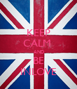 KEEP CALM  AND BE INLOVE - Personalised Poster large