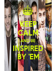 KEEP CALM AND BE INSPIRED BY 'EM - Personalised Poster small