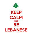 KEEP CALM AND BE LEBANESE - Personalised Poster large
