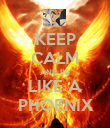 KEEP CALM AND BE LIKE A PHOENIX - Personalised Poster large