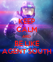 KEEP CALM AND BE LIKE AGENT SOUTH - Personalised Poster large