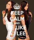 KEEP CALM AND BE LIKE AJ LEE - Personalised Poster large