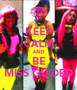 KEEP CALM AND BE MISS GUIDED - Personalised Poster large