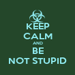 KEEP CALM AND BE NOT STUPID - Personalised Poster large