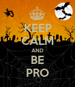 KEEP CALM AND BE PRO - Personalised Poster large