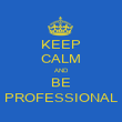 KEEP CALM AND BE PROFESSIONAL - Personalised Poster large