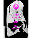 KEEP CALM AND BE  PUNK - Personalised Poster small