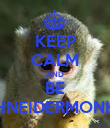 KEEP CALM AND BE SCHNEIDERMONKEY - Personalised Poster small
