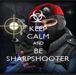 KEEP CALM AND BE SHARPSHOOTER - Personalised Poster large