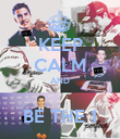 KEEP CALM AND  BE THE 1 - Personalised Poster large