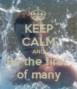 KEEP CALM AND Be the first  of many - Personalised Poster large