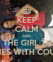 KEEP CALM AND BE THE GIRL THAT COACHES WITH COURTNEY - Personalised Poster large