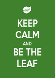 KEEP CALM AND BE THE LEAF - Personalised Poster large