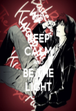 KEEP CALM AND BE THE LIGHT - Personalised Poster large