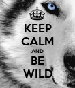 KEEP CALM AND BE WILD - Personalised Poster large