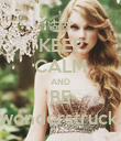 KEEP CALM AND BE wonderstruck. - Personalised Poster large