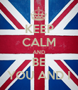 KEEP CALM AND BE YOU AND I - Personalised Poster large