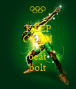 KEEP CALM AND beat bolt - Personalised Poster large